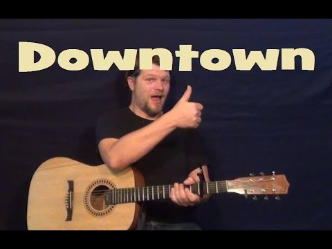 Downtown (Lady Antebellum) Easy Guitar Lesson Chords Licks E A B7 How To Play Tutorial