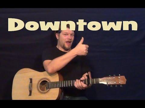 Downtown Lady Antebellum Easy Guitar Lesson Chords Licks E A B7