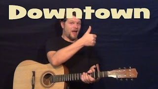 downtown lady antebellum easy guitar lesson chords licks e a b7 how to play tutorial