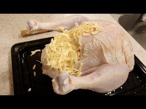 七面鳥の中に限界までチーズ入れて焼いて食べたみた!!