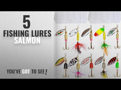 Top 10 Fishing Lures Salmon [2018]: 10pcs Fishing Lure Spinnerbait ,Bass Trout Salmon Hard Metal