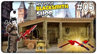 CRAFTIAMO LE NUOVE ARMI IN MITHRIL E IL LOOT RARO DEI DUNGEON | My Little Blacksmith Shop - ep. 05