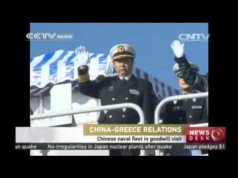 Chinese naval fleet makes visit to  Greek port of Piraeus