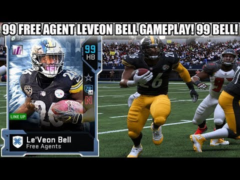 99 FREE AGENCY MASTER LEVEON BELL GAMEPLAY! 99 LEVEON BELL! | MADDEN 19 ULTIMATE TEAM