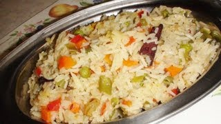 Vegetable Pulao (pulav Rice) - Video Recipe By Bhavna
