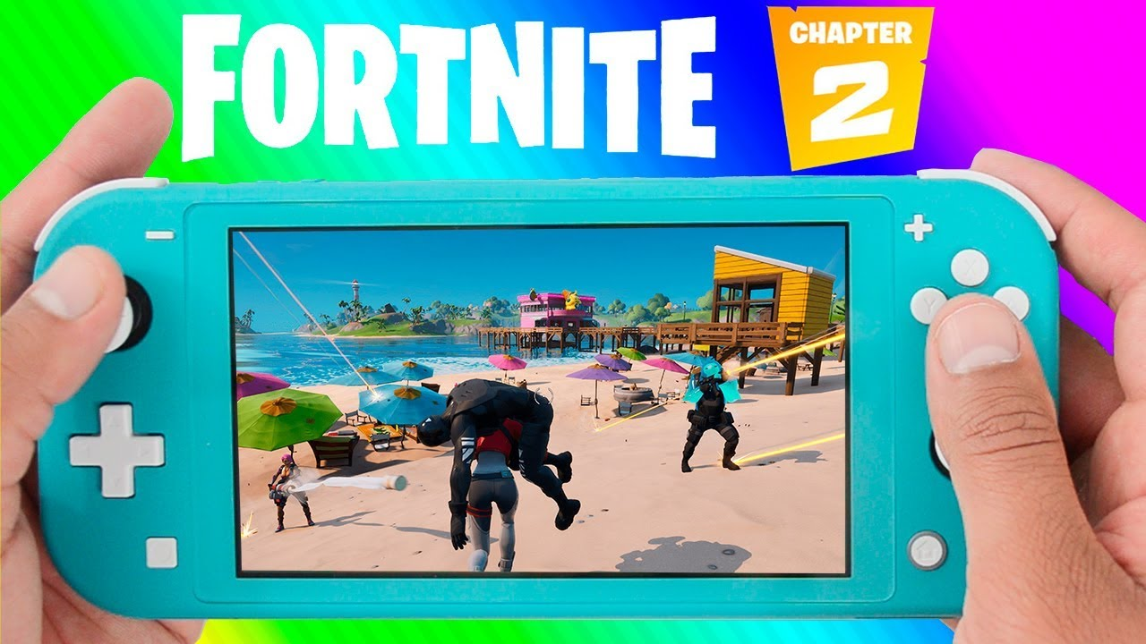 Fortnite Chapter 2 Nintendo Switch Lite Gameplay First Game With Bots First Victory Battle Royale Youtube