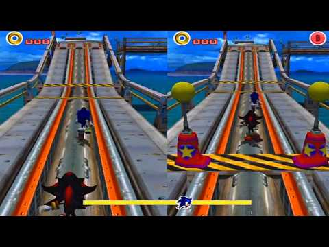 Sonic vs Shadow on Sonic Adventures 2 Battle!! HD