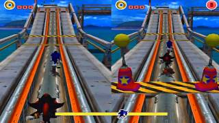 Sonic vs Shadow on Sonic Adventures 2 Battle!! HD