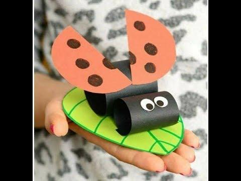 DIY Crafts for kids - Easy Paper Lady Bug !