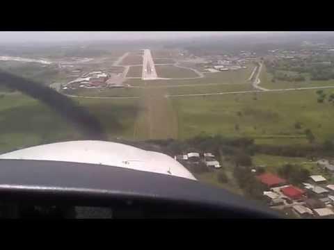 LANDING AT PIARCO AIRPORT
