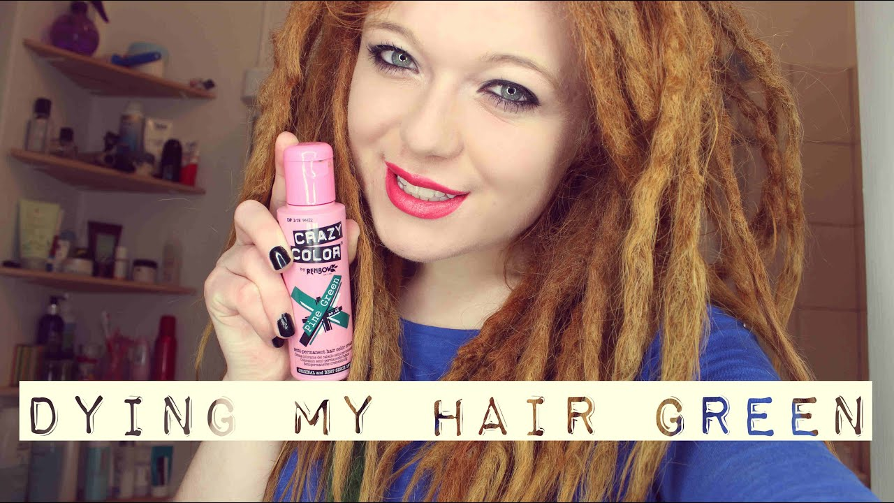 DYING MY DREADLOCKS GREEN - YouTube