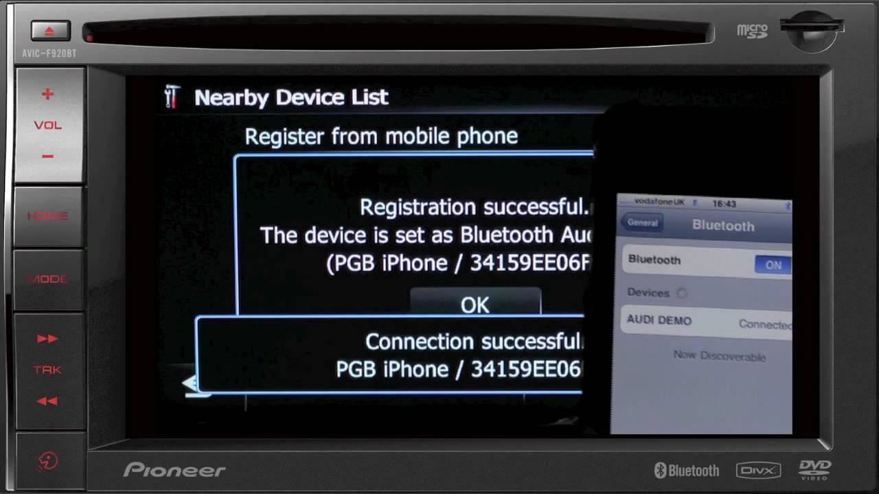Pioneer AVIC-F920BT GPS Navigation Treiber