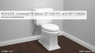 Kohler Universal Fill Valve Replacement Instructions Gp1138930 And Gp1083167