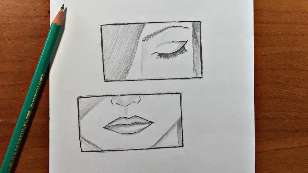 رسم تعبيري سهل تعلم رسم وجه بنت حزينة بالرصاص المبتدئين Youtube