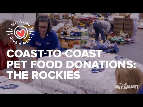 Coast-to-Coast Pet Food Donations: Food Bank of the Rockies