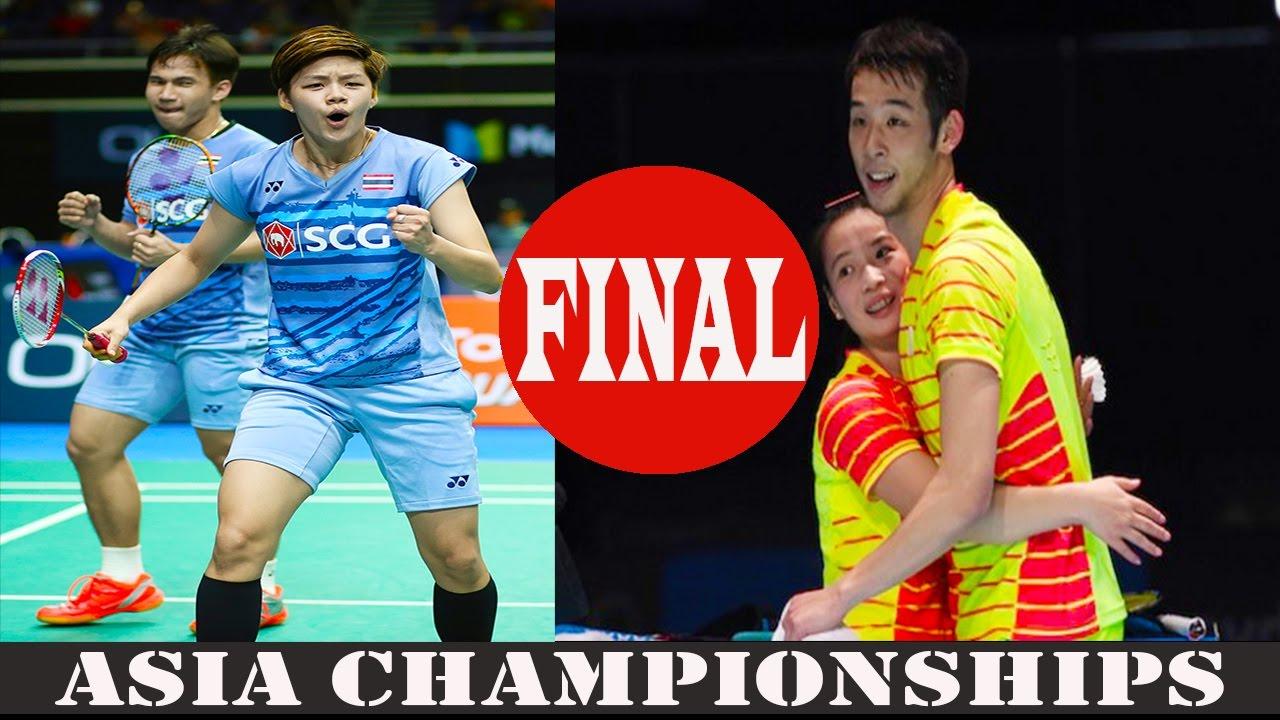 FINAL Asia Championships 2017 LU Kai HUANG Yaqiong VS Dechapol
