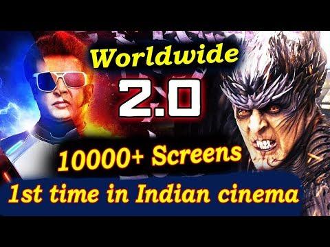 இந்திய சினிமாவில் முதல் முறை! 10000+ திரையரங்கில் 2.0 ரிலீஸ்! புதிய வரலாறு #2Point0 #Rajinikanth