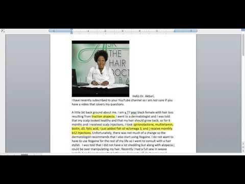 Traction Alopecia... Balding, Alopecia, Weave, Braids, Medication, Biotin, Rogaine