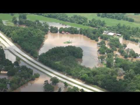 2016 Brazos River Flood Aerial Full Video