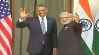 PM Modi with US President Obama at Hyderabad House, Delhi