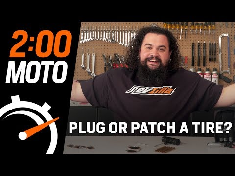 2 Minute Lessons - Do I Need To Plug or Patch My Tire? at RevZilla.com