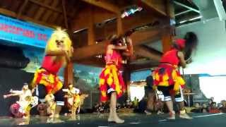 Great Reog Ponorogo dance performance in Taman Mini Indonesia Indah, Jakarta