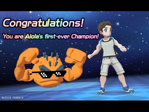 Defeating Professor Kukui with only Level 1 Geodude!