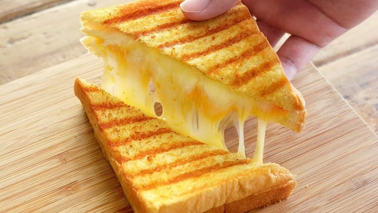 Satisfying GRILLED CHEESE SANDWICH