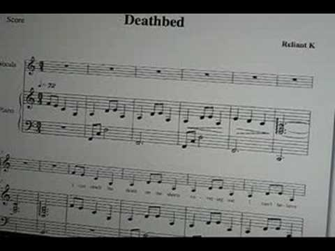 Deathbed - Relient K sheet music, piano vocal