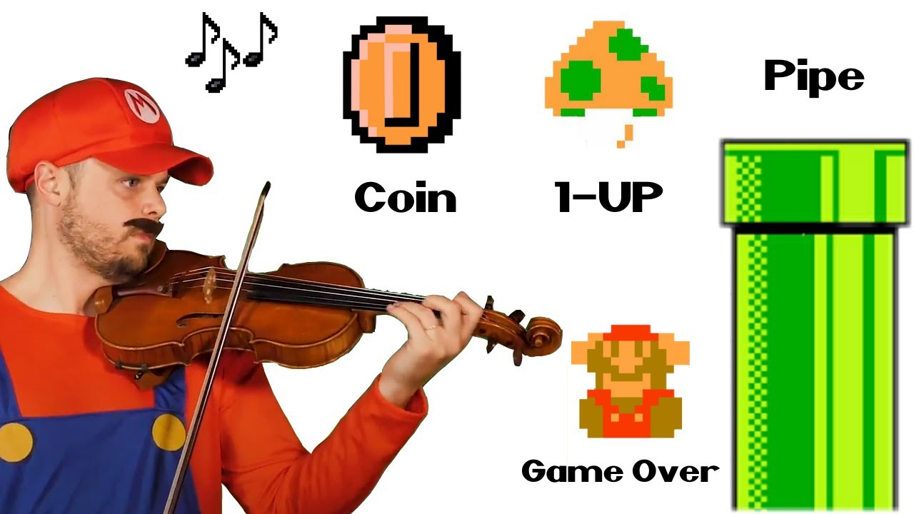 I played the BEST Mario Sound Effects and Music on Violin