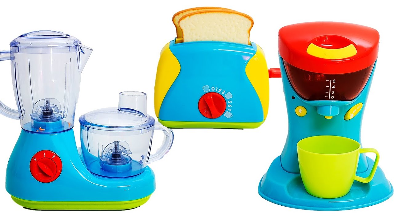 cooking playset just like home kitchen appliance set toaster
