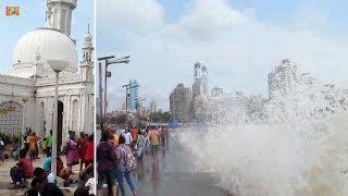 #Mumbai #Haji #Ali हाजी अली अदभुत समुंदरी लहरे Dargah visit : Waves across the Walkway