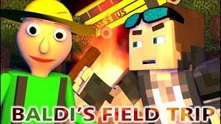 BALDI'S BASICS FIELD TRIP IN MINECRAFT! (Official) Baldi Minecraft Animation Horror Game Camping