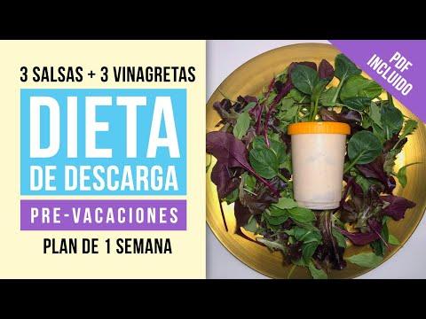 Dieta de Descarga Pre-Navidad para adelgazar - Cómo bajar de peso con una dieta fácil