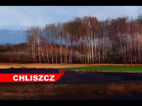 Photoshop CC digital painting process – Rural Landscape