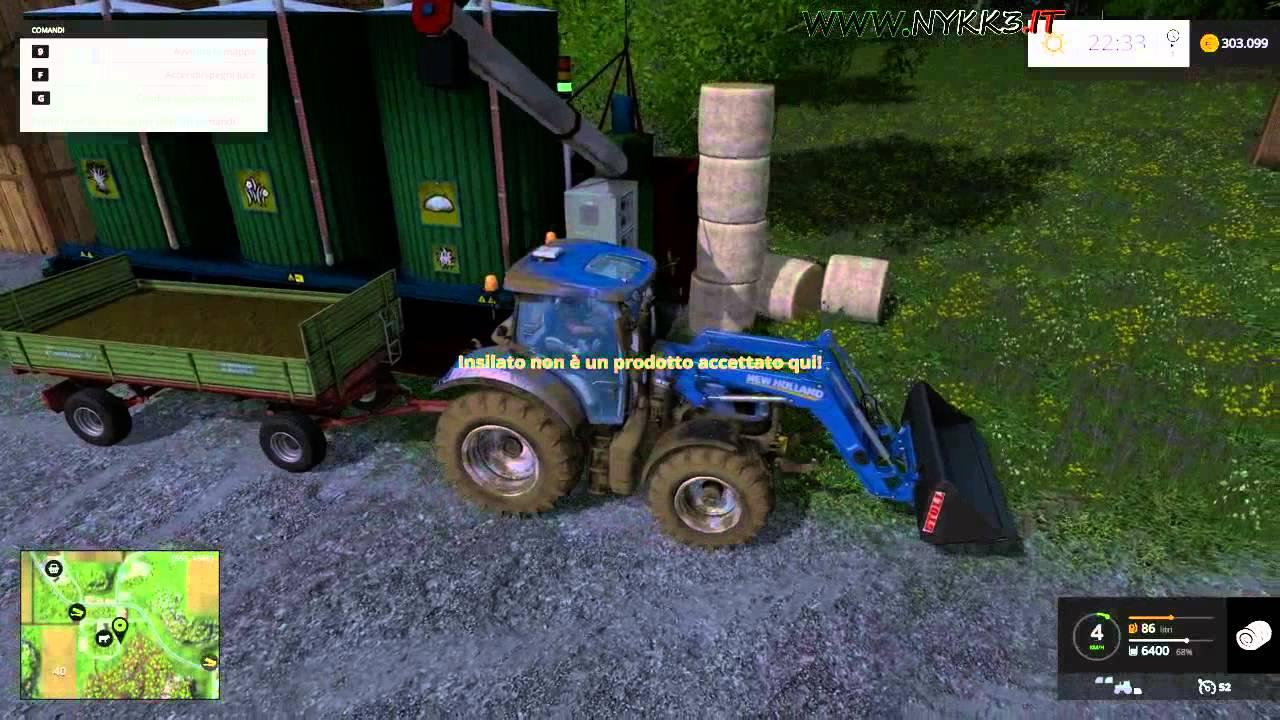 Farming Simulator 15 - Gameplay ITA HD - Nuova Pala Gommata Vendiamo  Insilato #39