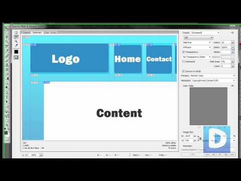 Photoshop Tutorial - Create A Website with the Slice Tool