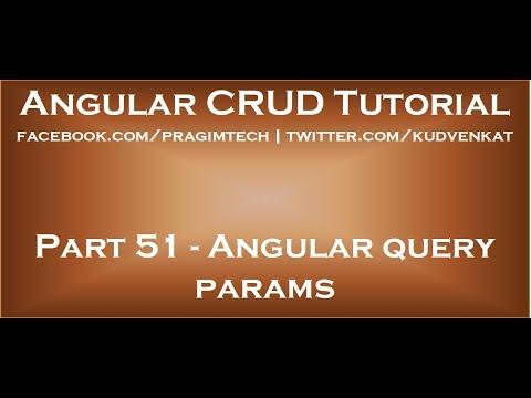 Angular query params
