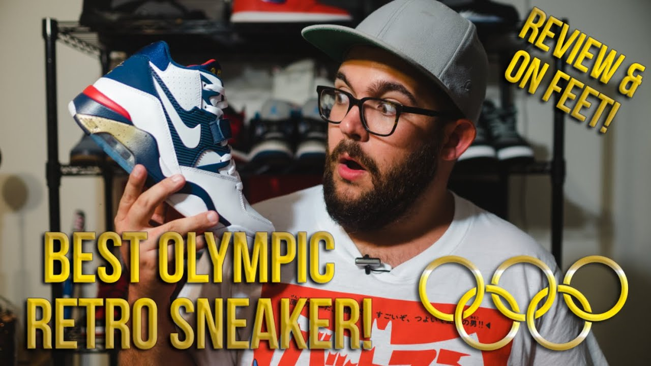 the latest 42ab6 615ab 2016 Nike Air Force 180 Olympic Review   On Feet!