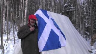 winter Camping flag day