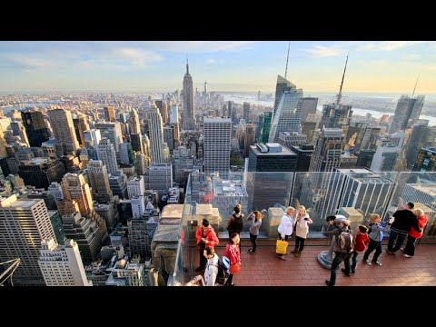 NEW YORK CITY 2018: THE TOP OF THE ROCK! / Middle of Manhattan! [4K]