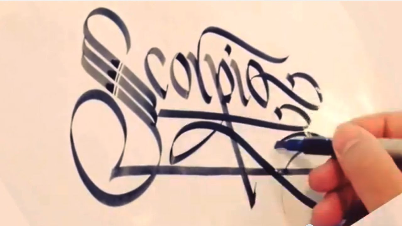Calligraphy scorpio youtube Calligraphy youtube