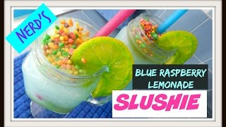 Nerd's Blue Raspberry Kool-aid Slushie + Diy Food Colored Lemon Wedges!