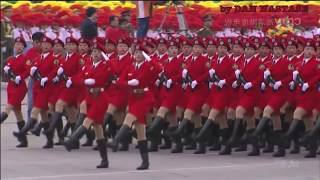China's & North korea military parade
