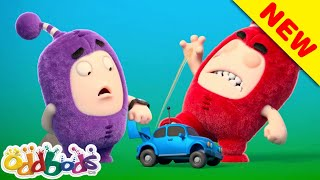 ODDBODS   Fuse & Jeff Play With Toy Car   Cartoon for Kids