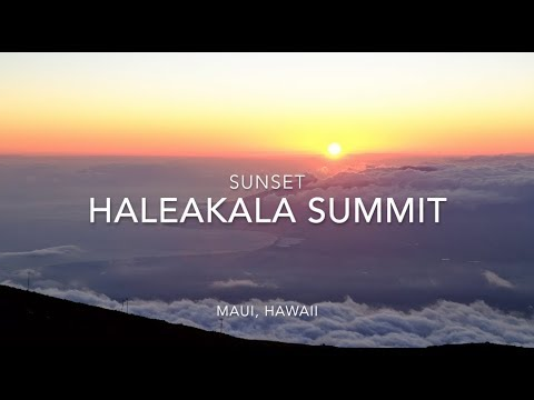 Haleakala Sunset, Maui Hawaii