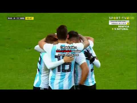 Argentia vs Russia 1-0 friendly match
