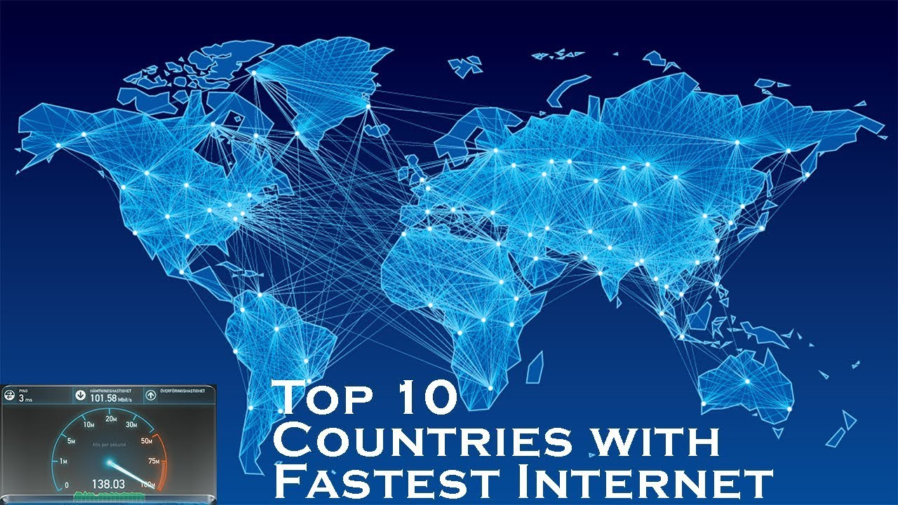 Fastest Internet In The World >> Top 10 Countries With Fastest Internet Speeds 2017 10 Fastest