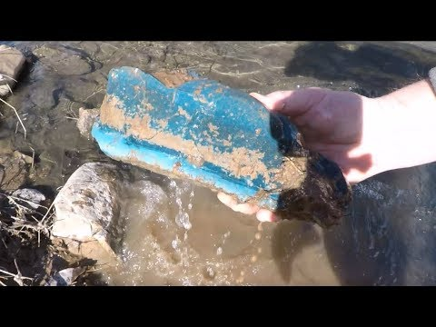 City Creek Treasure Hunt: Incredible Blue Slag