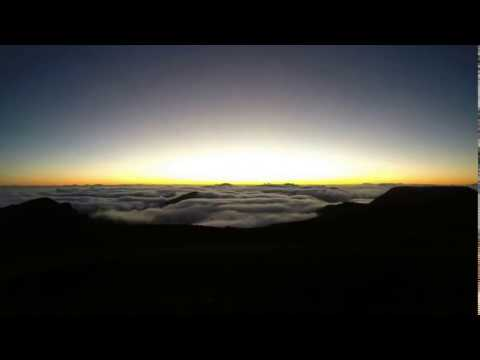 Sunrise from Haleakalā National Park Volcano Summit